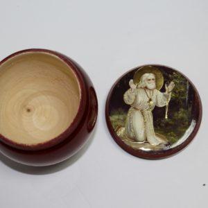 Чугунок деревянный для хранения сухариков