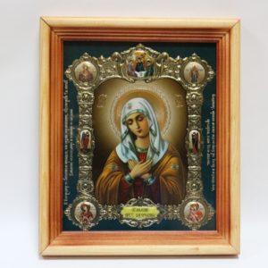 Икона Пресвятой Богородицы в золоте