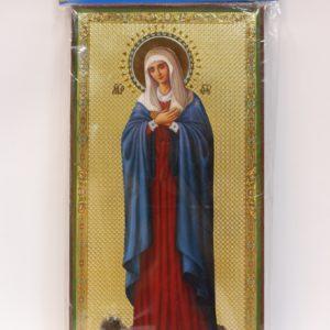Икона Божией Матери именуемая «Умиление», с земелькой со Св.Канавки Пресвятой Богородицы