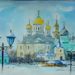 Серафимо-Дивеевский монастырь вид со св. Канавки