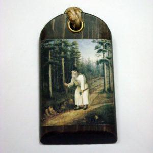 Икона Батюшки Серафима с мотыжкой