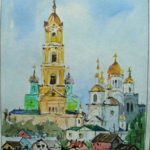Общий вид Серафимо-Дивеевского монастыря с реки Вичкинза