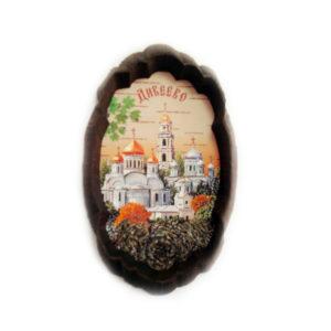 Вид на Дивеевский монастырь Пано (береста)