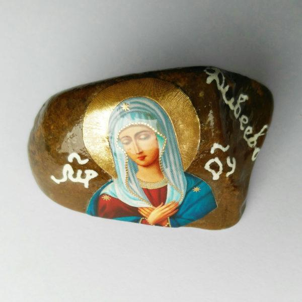Камушек с образом Пресвятой Богородицы «Умиление»