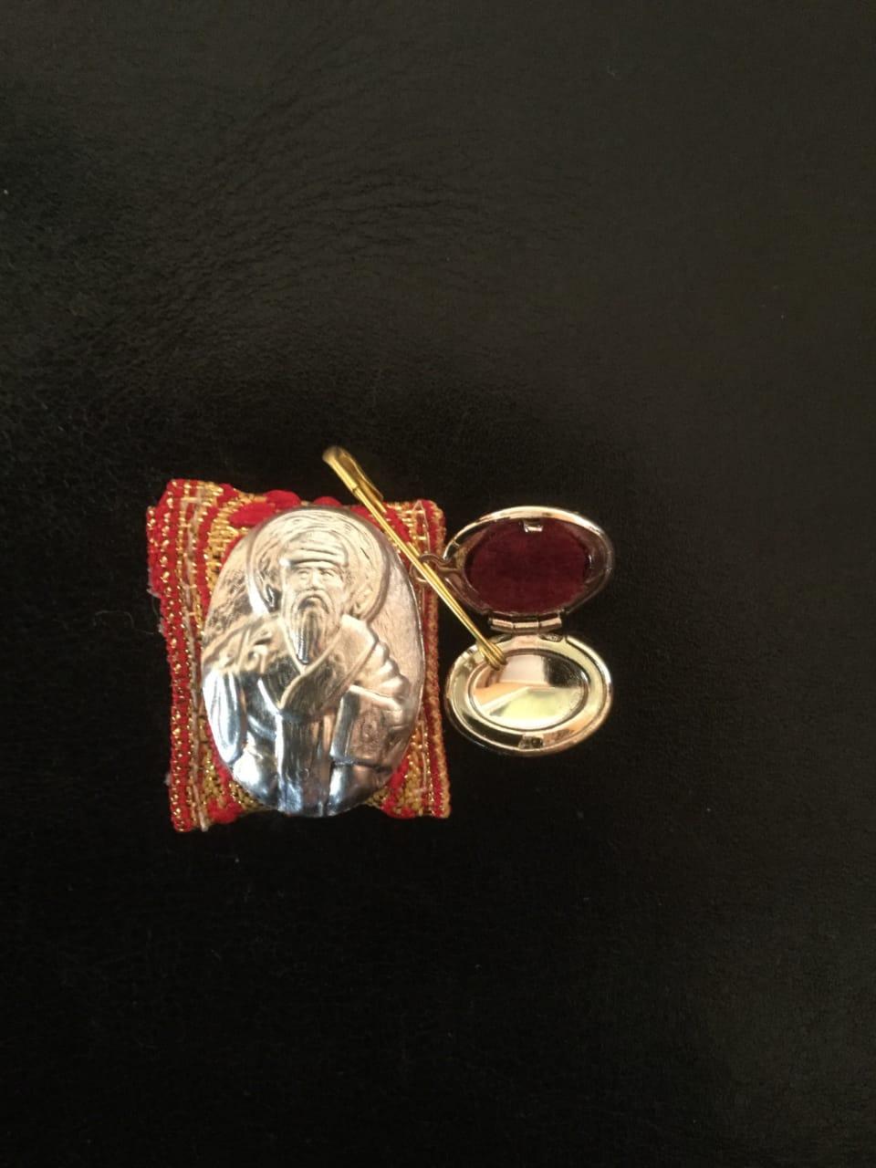 Ладанка пропитанная маслом от мощей   Спиридона Чудотворца  с частичкой башмачка Святителя