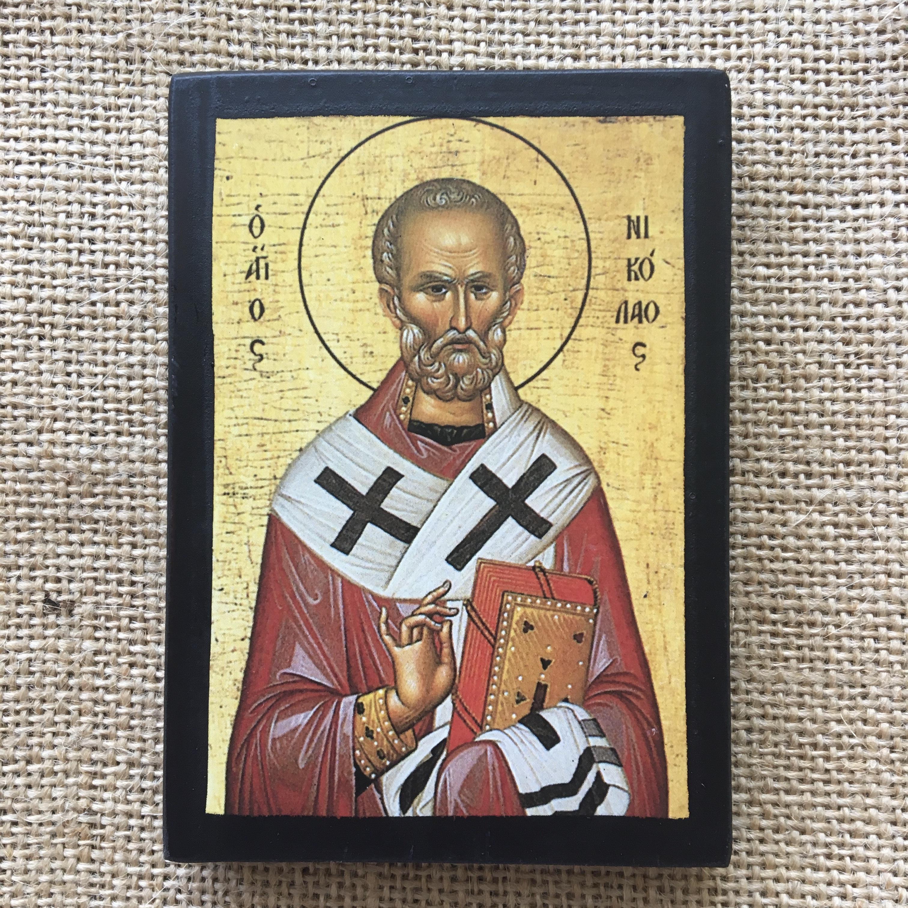 Икона с изображением Св. Николая Чудотворца