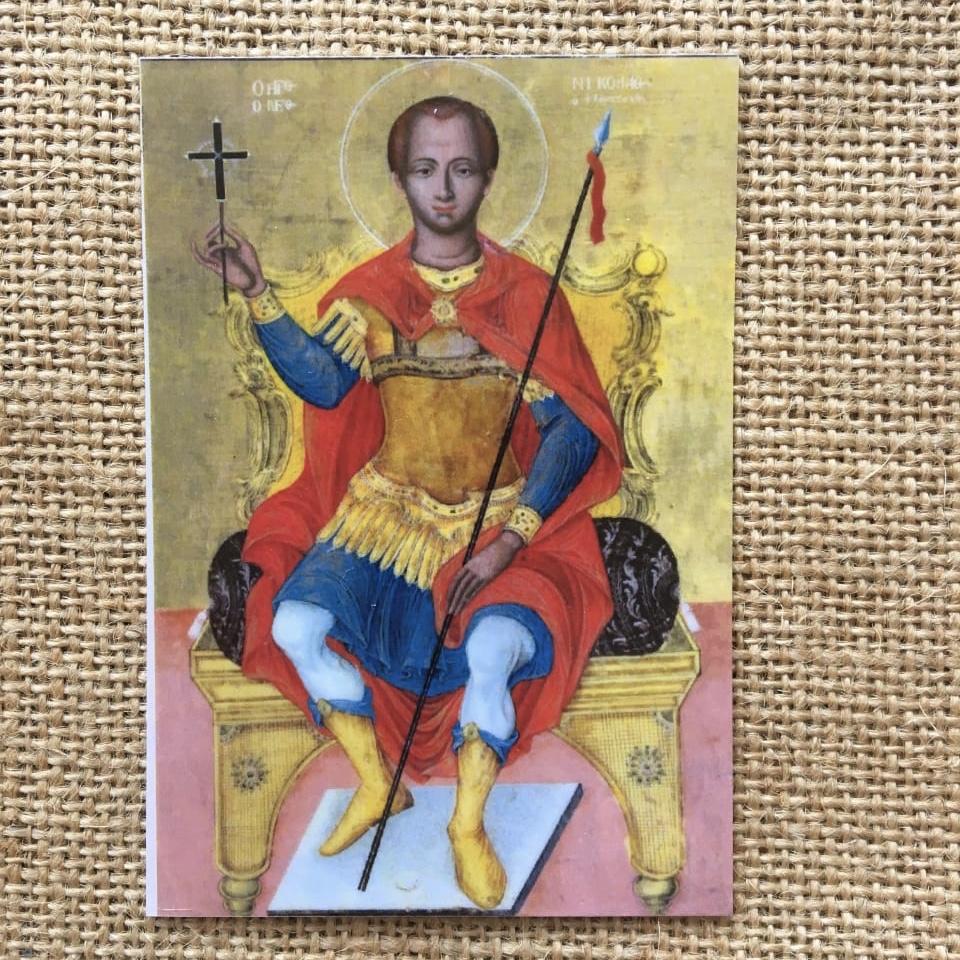 Икона с изображением Св. Николая Нового