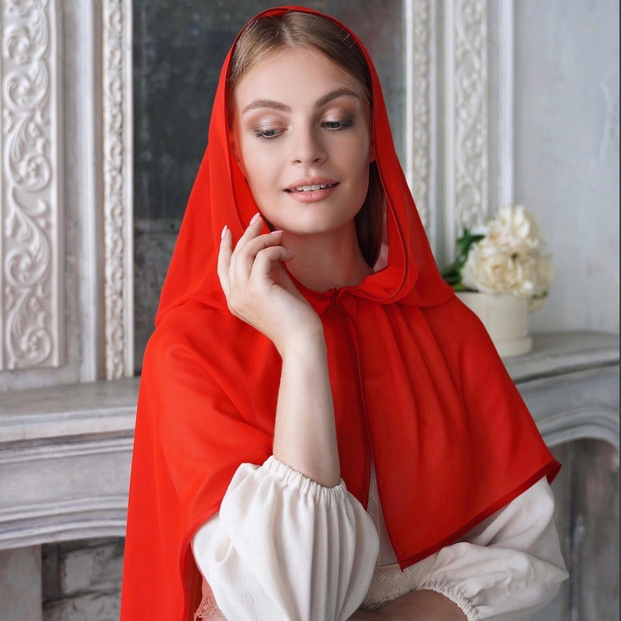 """Неспадающий платок """"Тюльпан"""""""