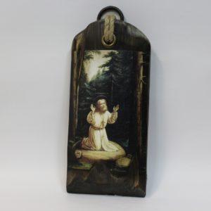 Икона из дерева на холсте, молитва Преп.Серафима Саровского на камне