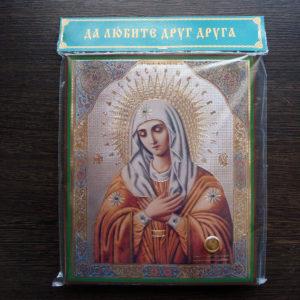 Икона Умиление Пресвятой Богородицы с частицей земли с канавки