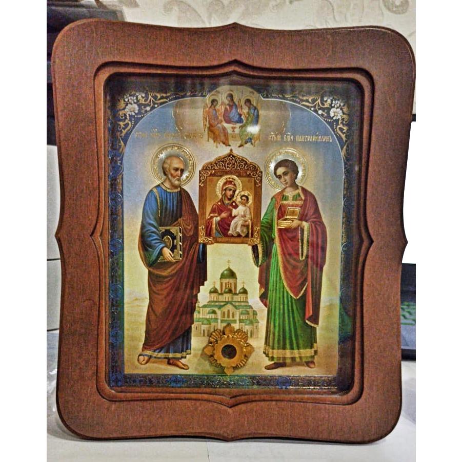 Икона с выступившей на камне кровью с места гибели Симона Кананита (22.5 на 26.5 см)
