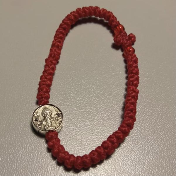 Комбоскини с ликом Св. Спиридона изготовленные по благословению святой горы Афон (красные)